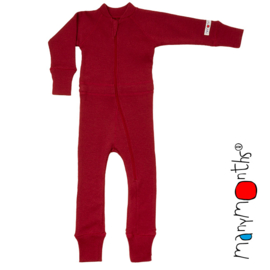Manymonths - One Piece Suit - meegroei concept - Raspberry Red
