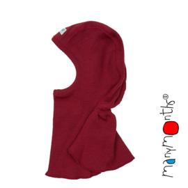 Manymonths - Elephant Hood Bivakmuts in merino wol, meegroei maat - Raspberry Red