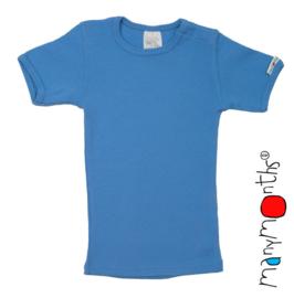 Manymonths - Short sleeve T-shirt Wol, meegroei 8 tem 10 jaar (Enthousiast) - Sweet Apple, Lilac Rose, Mykonos Waters, Provence Blue