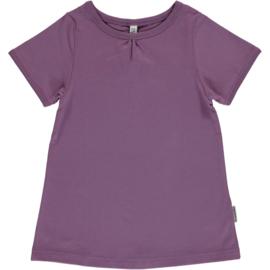 Maxomorra - T-shirt Short Sleeve  A-Line - Dusty Purple - 134/140