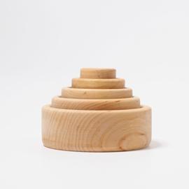Grimm's - Set houten kommetjes, natuur - 10340
