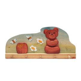 Ostheimer - Kapstok 5 haken - Honingbeer