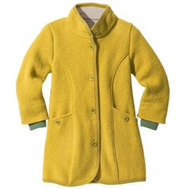 Disana - Jas / mantel in gekookte wol - Curry geel in 122/128 = Laatste stuk