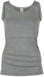 Engel Natur - Borstvoeding hemd wol zijde - Lichtgrijs melange