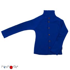 Manymonths - Unique Cardigan in merinowol, met aanpasbare mouwen, meegroei maat  - Jewel Blue