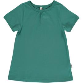 Maxomorra - T-shirt Short Sleeve  A-Line - Green Petrol - 134/140