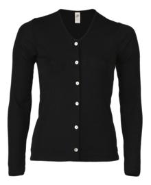 Engel Natur - Cardigan in wol zijde - Zwart
