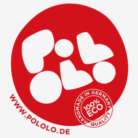 Pololo Eco slofjes in gekookte wol - Aardbei 26/27 of 34/35