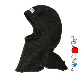 Manymonths - Elephant Hood bivakmuts in merino wol, meegroei maat - Foggy Black