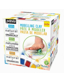 Pebeo Arteko - Thema box Sand met blanke klei om zelf te kleuren, 3 potjes