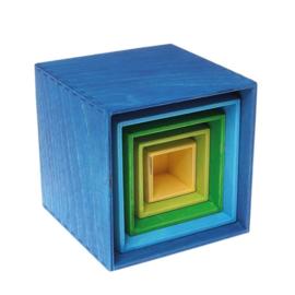 Grimm's - Kleine set kisten, blauw - 10570