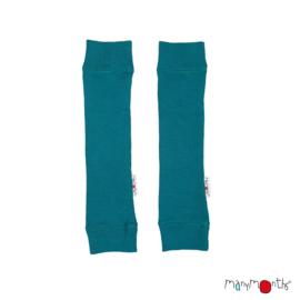 Manymonths - Arm en beenwarmers in merinowol - Royal Turquoise