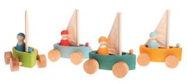 Grimm's - Set van 4 kleine yacht boten - 09316