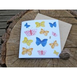 Anneko Design - Wenskaart met zaailint - Vlinders