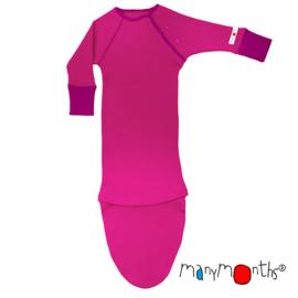 Manymonths - Mee-groei slaapzak in wol, verstelbaar in maat van 3 tem 18 maanden - Lilac Rose
