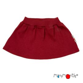 Manymonths - Princess skirt Rok in merinowol - meegroei maat 3 tem 18 maanden - Raspberry Red