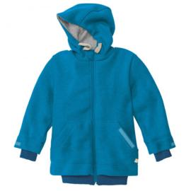 Disana - Jas Outdoor  in gekookte wol, gevoerd - Blauw in 122/128 = Laatste stuk