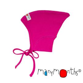 Manymonths - Pixie muts in merinowol - meegroeimaat 0 tem 6 à 9 maanden - Lilac Rose = LAATSTE STUK