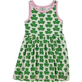 Maxomorra - Mouwloze jurk met zwierrokje - Clover, maat 74/80, 86/92, 98/104, 122/128