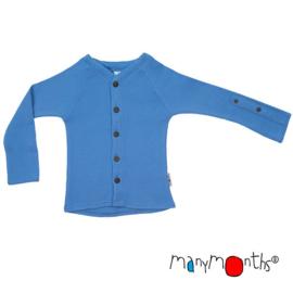Manymonths - Cardigan met aanpasbare mouwen - merinowol - Provence Blue