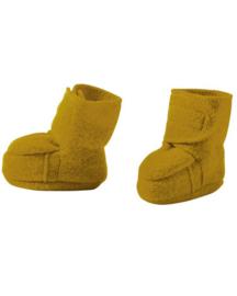 Disana - Booties in gekookte wol - Gold