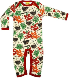 Duns - Long Sleeve Lapneck Suit - Rowanberry Red in maat 50 of 80
