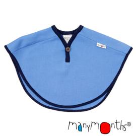 Manymonths - Multi Cape in merino wol, groeit mee van babyleeftijd tot en met +/- 5 jaar - Provence Blue