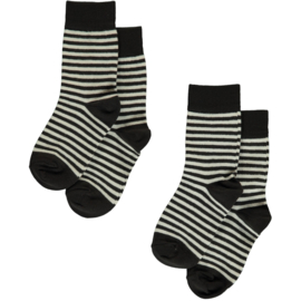 Maxomorra - Sokken in biokatoen - Zwart, Twee paar - 16/18, 19/21, 22/24, 25/27, 28/30, 31/33, 34/36