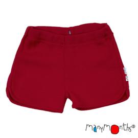 Manymonths - Thermal under / over shorts in merinowol , meegroeimaat 5 tem 7,5 jaar - Raspberry Red