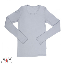 Manymonths MaM - Longsleeve shirt / trui in merinowol - Bright Silver