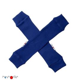 Manymonths - Arm en beenwarmers in merinowol - Jewel Blue