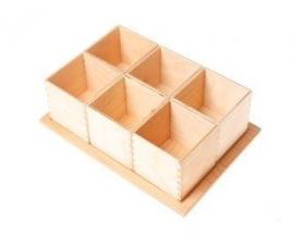 Grimm's - Kleine sorteer bakjes, ook los van elkaar te gebruiken, 6 stuks, natuur - 10297