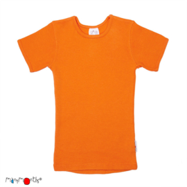 Manymonths - Short sleeve T-shirt Wol, meegroei maat - Festive Orange