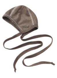 Engel Natur - Strikmutsje in Wol Zijde - Walnoot bruin