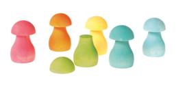 Grimm's - Sorteerspel regenboog paddestoelen, pastel - 10586