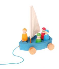 Grimm's - Grote Yacht boot met 4 zeilers - 09315