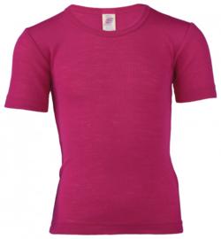 Engel Natur - T-shirt merino wol zijde - Raspberry