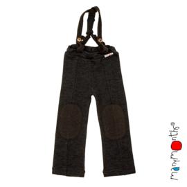 Manymonths - Hazel pants Salopette / Broek met afneembare riemen - meegroei 1 tem 2,5 jaar - Foggy Black