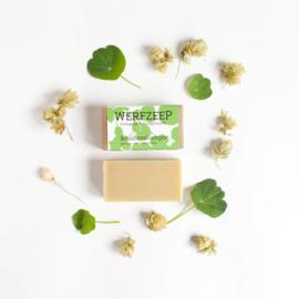 Werfzeep - Vegan Kruidenshampoo blok met gember, calendula en hop - 100 gr