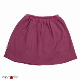 Manymonths - Princess skirt Rok in merinowol - Frosted Berry