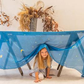 Sarah's Silks - Speelzijde 265x90 cm, sterrennacht - 85032