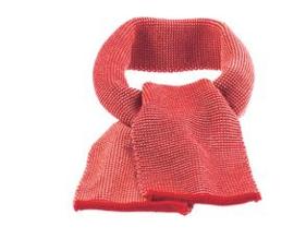 Disana - Sjaal merinowol -  Rood / Roze melange