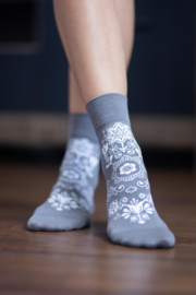Be Lenka - Barefoot sokken met ergonomische vorm, in dun en zacht katoen - Folk Grijs = OP