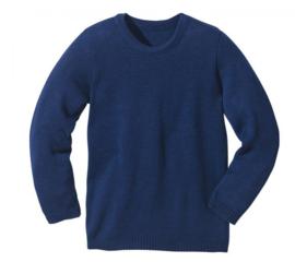 Disana - Gebreide trui in merinowol - Donkerblauw - 86/92 en 98/104 Laatste stuks