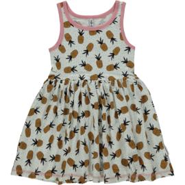 Maxomorra - Mouwloze jurk met zwierrokje - Pineapple Spots, maat 74/80, 86/92, 98/104, 122/128, 134/140