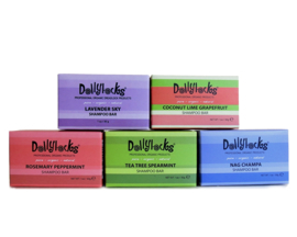 Dollylocks - Shampoo soap bar / body soap - Different scents, in travel size 30 gr or normal size 128 gr