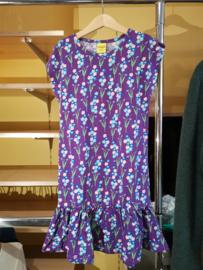 Duns - Cap sleeve dress met rokje - Forget me not, Purple in 134/140 = Laatste!