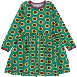 Maxomorra - Jurk met lange mouwen en zwierrokje- Sunflower, 86/92, 98/104, 110/116, 122/128, 134/140