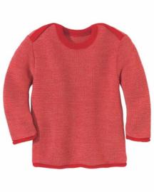 Disana - Gebreide melange trui - Rood Roze melange