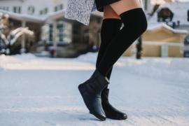 Be Lenka - Barefoot schoenen voor vrouwen, met merino wol voering - model Polar - Zwart - Maat 38